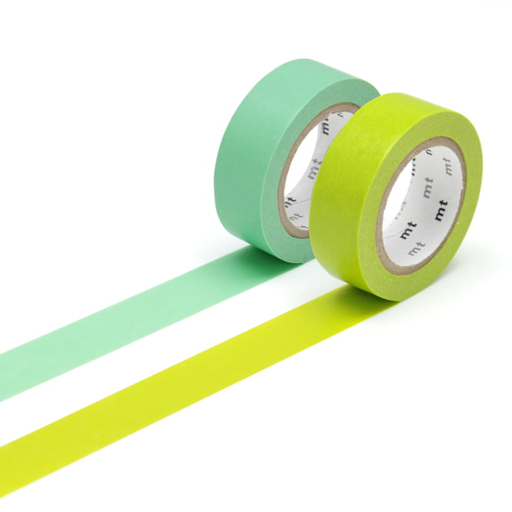 Deko-Klebebänder 2P basic color von Masking tape (2er-Set)