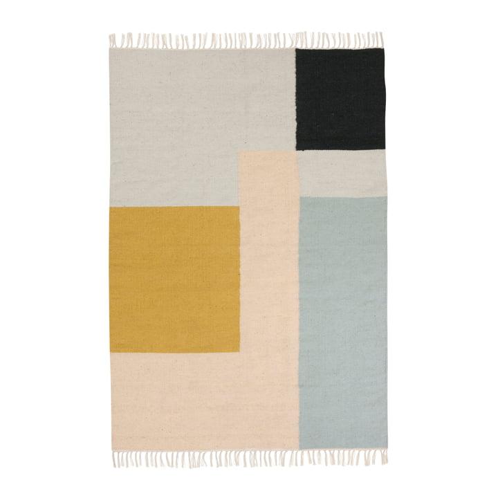 Kelim Rug Teppich, squares in gross von ferm living