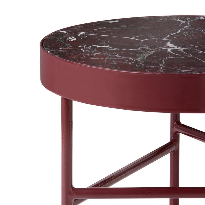 ferm living - Marble Marmor Tisch, rot