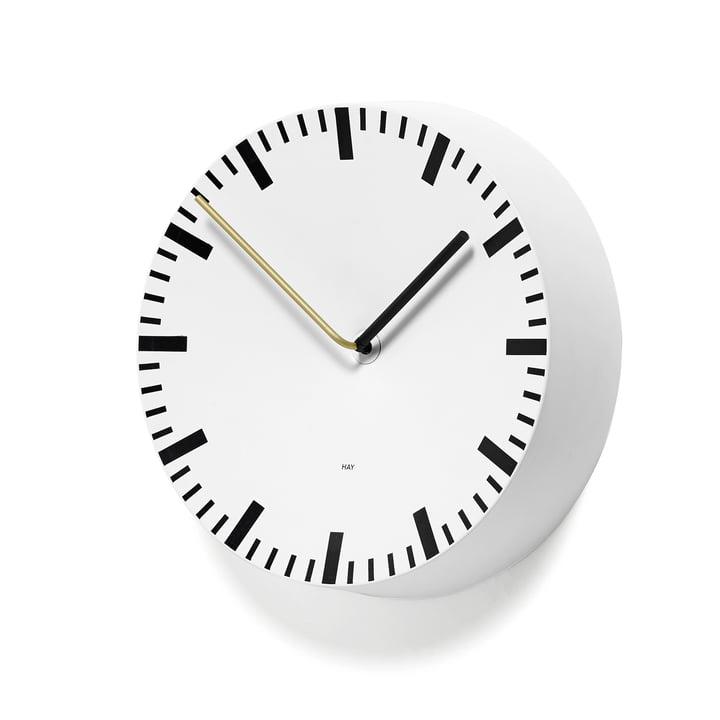 Analog Uhr von Hay in weiss