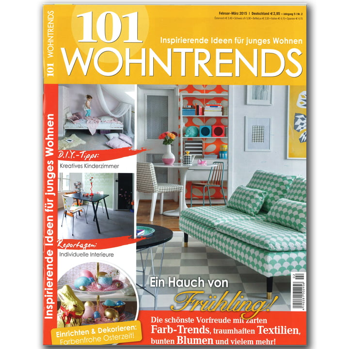 Wohndesign Zeitschrift: 101 Wohntrends
