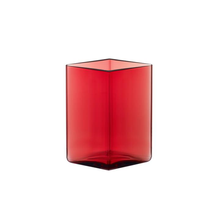 Ruutu Vase 115 x 140 mm von Iittala in Cranberry