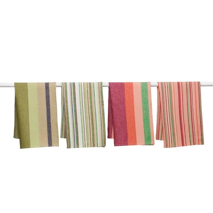 Iittala - Origo Geschirrtücher, grün, rosa