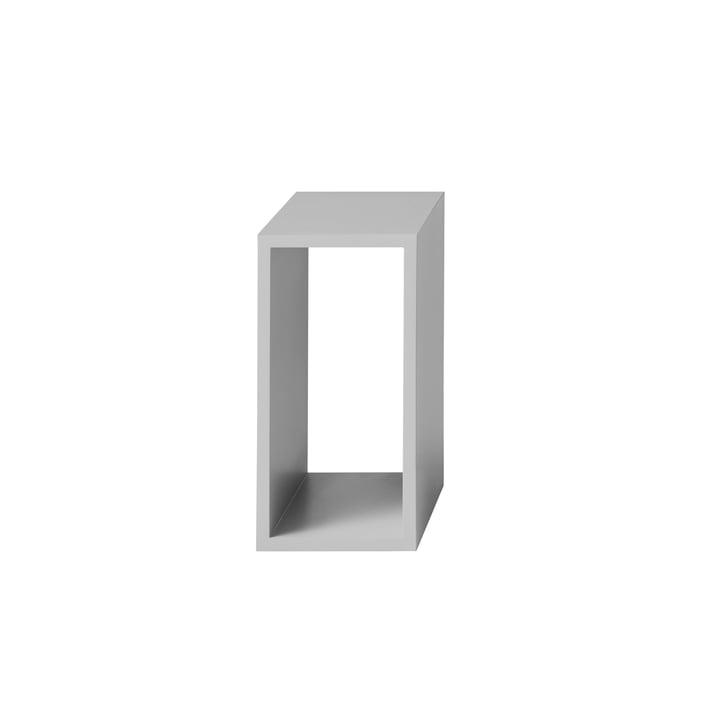 Muuto - Stacked Regalmodul ohne Rückwand, klein, hellgrau