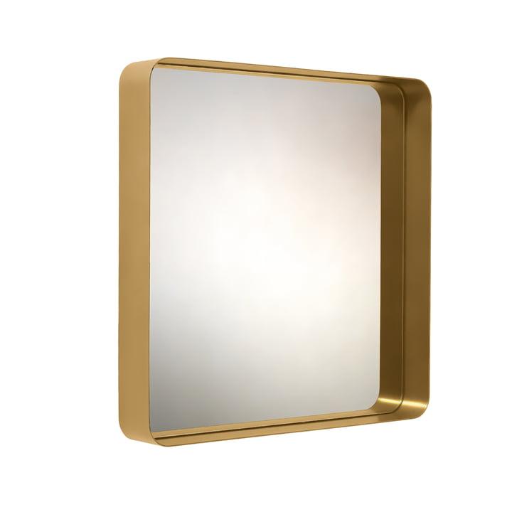 Classicon - Cypris Spiegel 70 x 70, Messing / Kristallglas