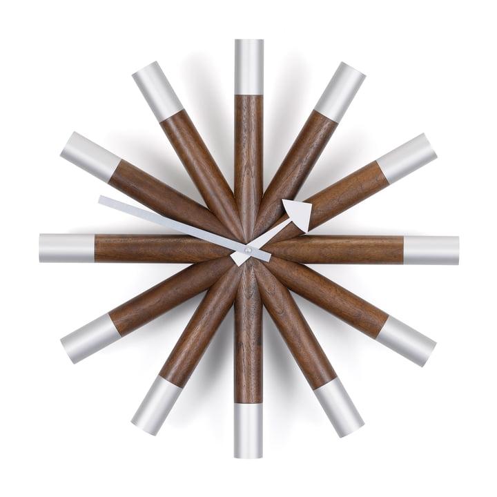Vitra - Wheel Clock, Nussbaum / Aluminium