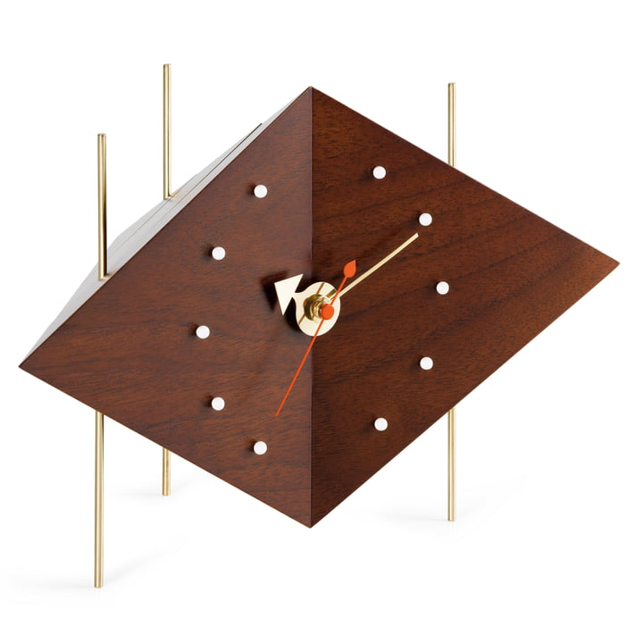 Vitra - Diamond Clock, Nussbaum massiv