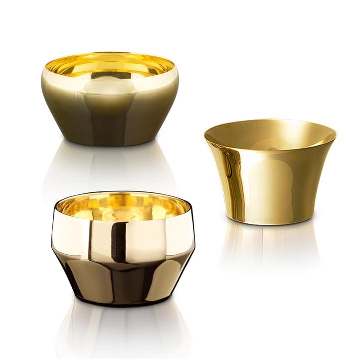 Skultuna - Kin Teelichthalter (3er-Set), Messing Trio, gebürstet und poliert