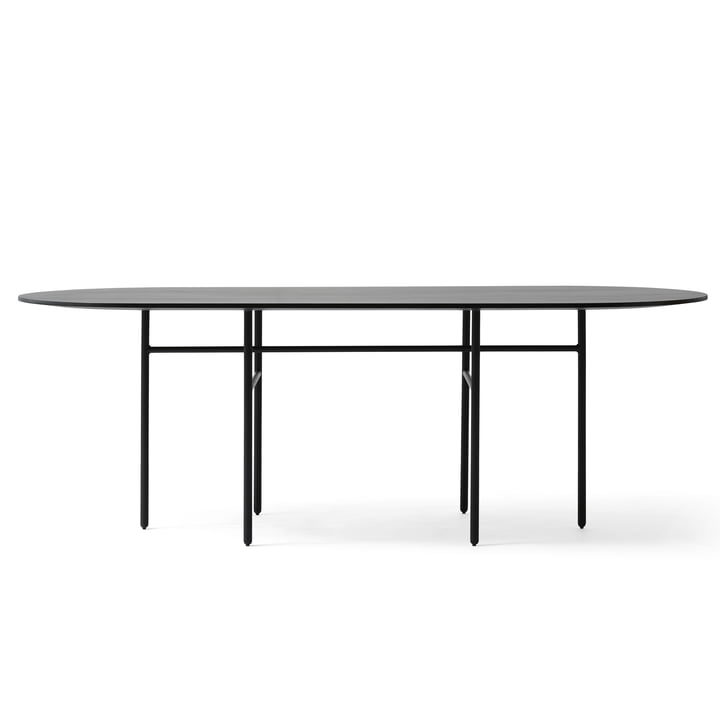 Menu - Snaregade Table, oval, schwarz funiert