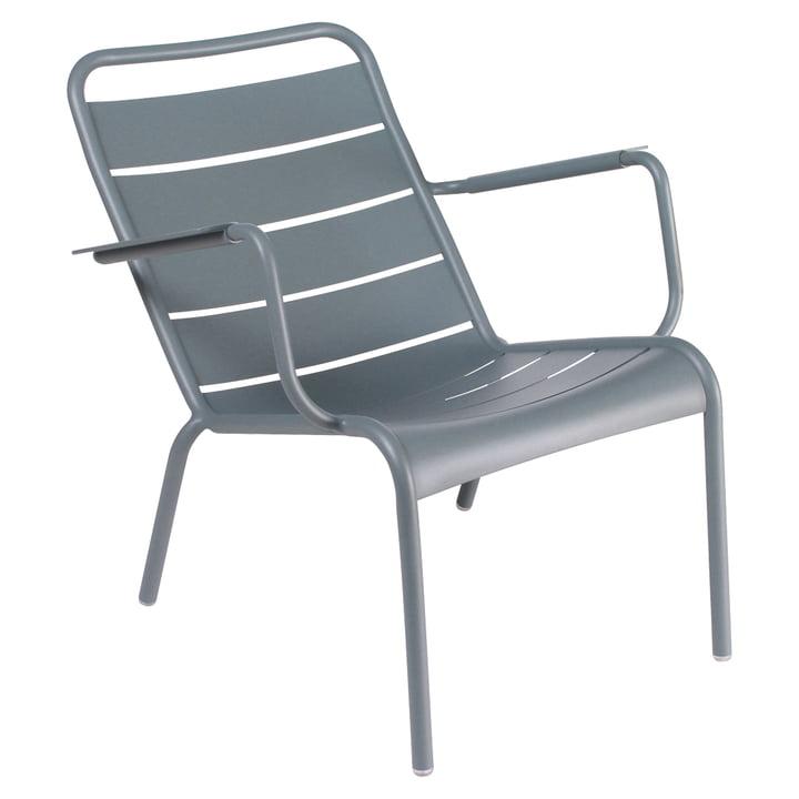 Luxembourg tiefer Sessel von Fermob in Gewittergrau