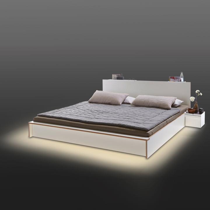 LED-Beleuchtung für das Flai Bett von Müller Möbelwerkstätten