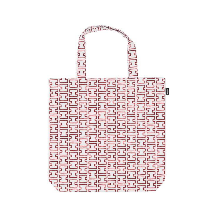 Die H55 Stofftasche von Artek, weiss / rot