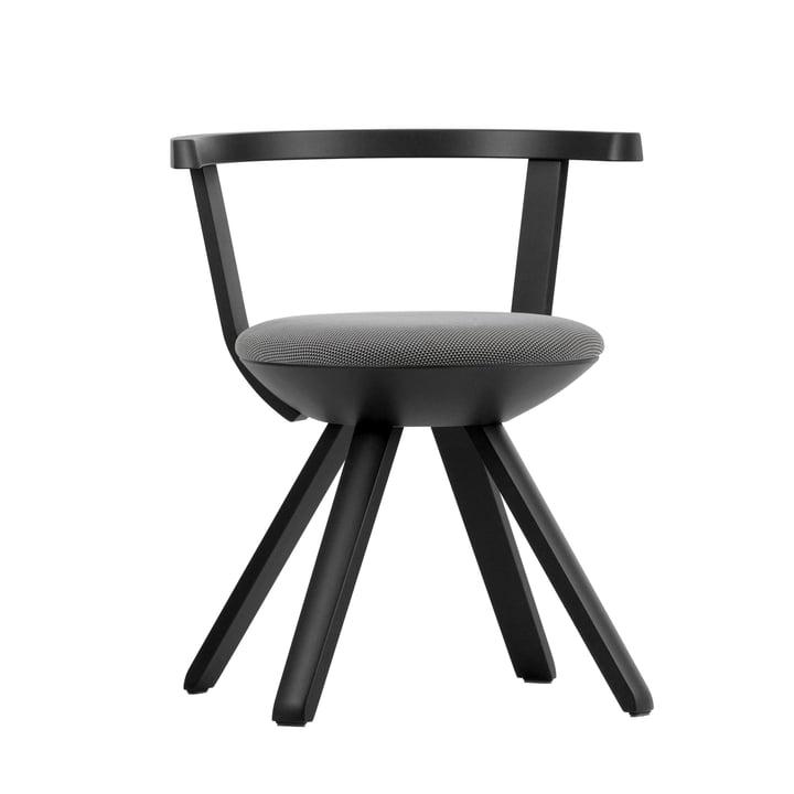Artek - KG001 Rival Stuhl, schwarz, schwarz / weiss