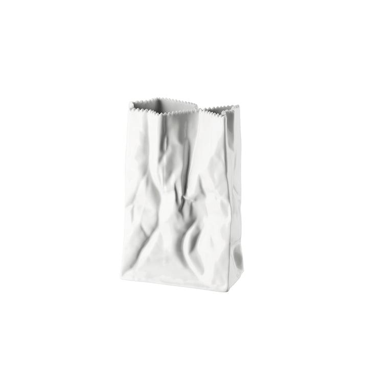 Rosenthal - Tütenvase, 18 cm, weiss glasiert
