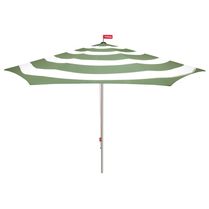 Stripesol Sonnenschirm mit Standfuss von Fatboy in Industrial Green