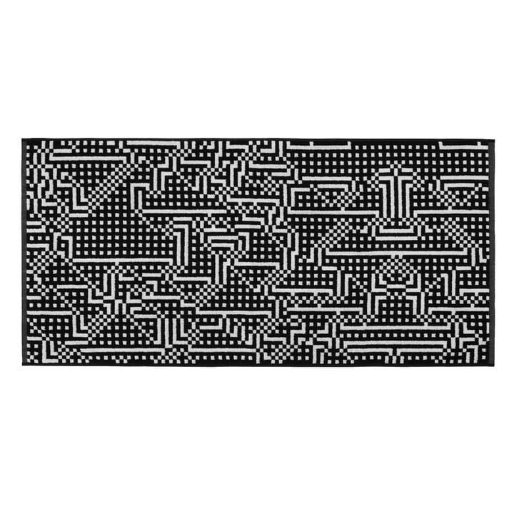 Route Black and Light Grey Handtuch 50 × 100 cm von Zuzunaga