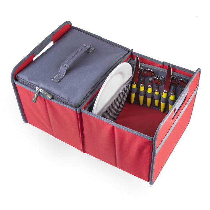 meori - Kühler, grau / Klassiker Faltbox 30 Liter, Hibiskus Rot Uni
