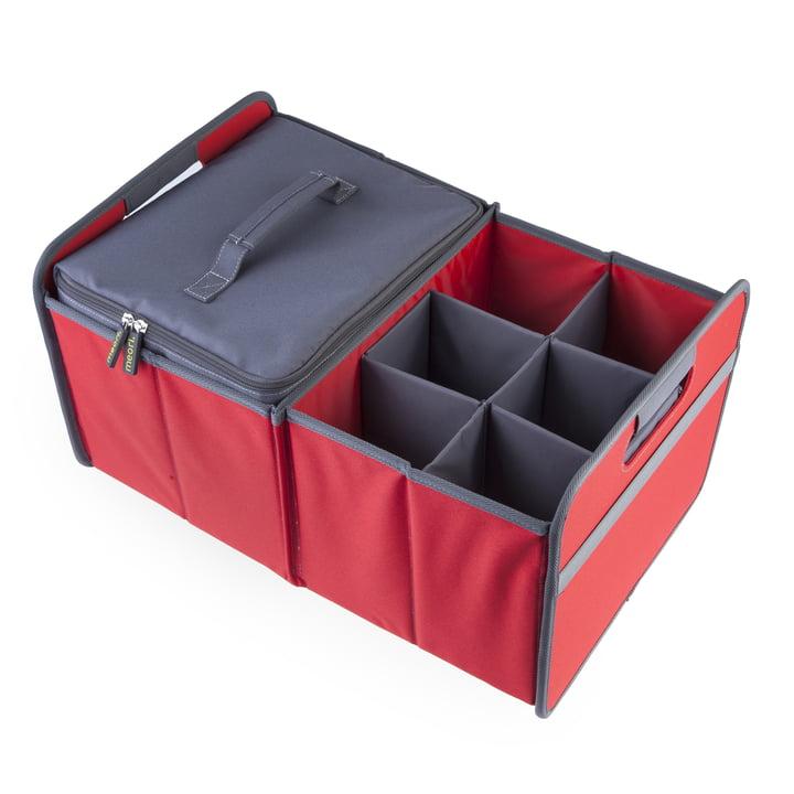 meori - Kühler, grau / Sixpack, grau / Klassiker Faltbox 30 Liter, Hibiskus Rot Uni