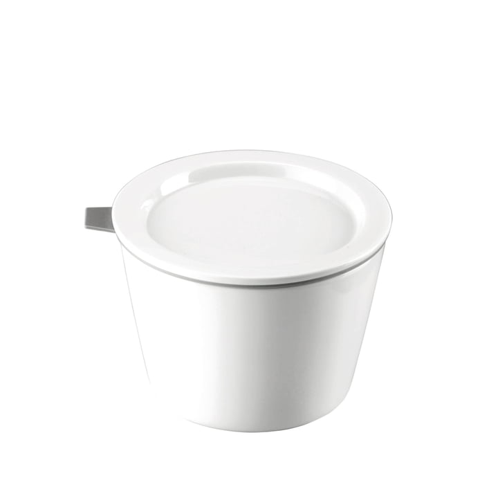 Thomas - Food Container Porzellan, 500 ml, Silikonring grau