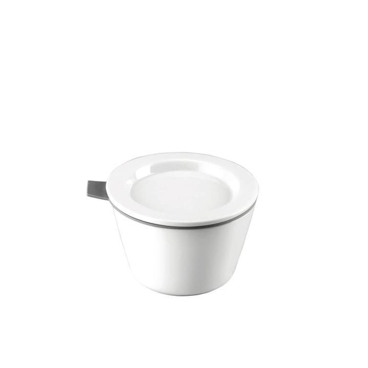 Thomas - Food Container Porzellan, 140 ml, Silikonring grau