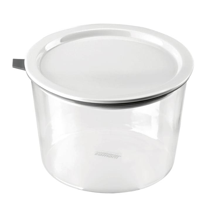Thomas - Food Container Glas, 1620 ml, Silikonring grau