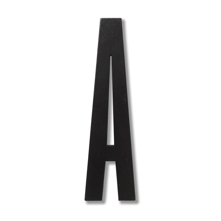 Wooden Letters Indoor A von Design Letters in Schwarz