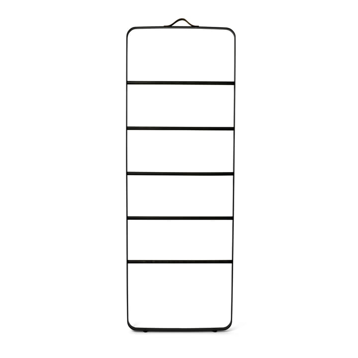 Menu - Towel Ladder, schwarz / eiche dunkel