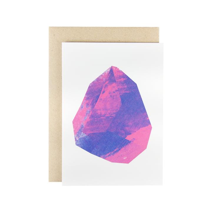Karte - Make Like Paper Grusskarte in Magenta