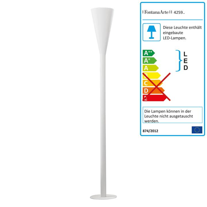 FontanaArte - Riluminator LED Stehleuchte in weiss