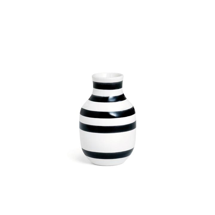 Omaggio Vase H 125 von Kähler Design in Schwarz / Weiss