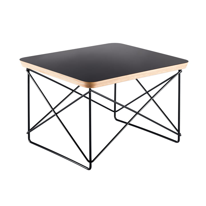 Eames Occasional Table LTR von Vitra in HPL schwarz / basic dark