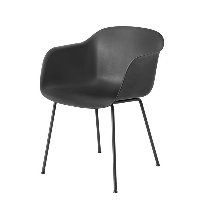 Fiber Chair Tube Base von Muuto in schwarz