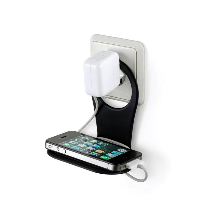 Handy-Ladehalterung von Bobino in Schwarz