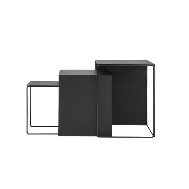 Cluster Tables (3er Set) von ferm Living in Schwarz