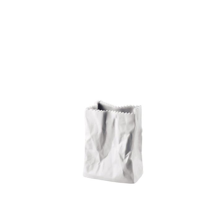 Rosenthal - Tütenvase, 10 cm, weiss-matt poliert
