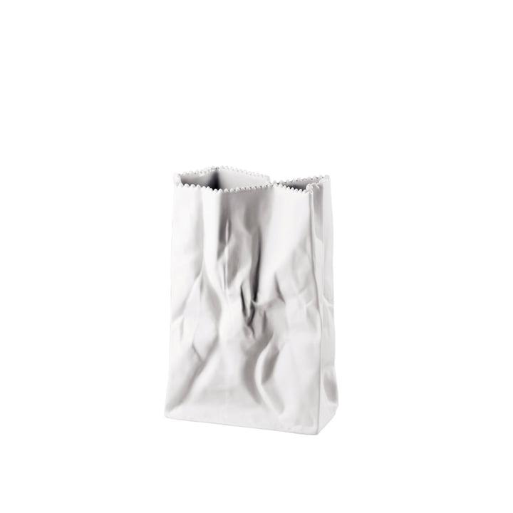 Rosenthal - Tütenvase, 18 cm, weiss-matt poliert