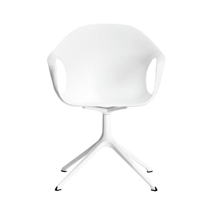 Kristalia - Elephant Stuhl mit Drehuntergestell in Weiss