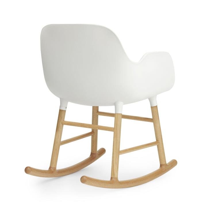 Form Rocking Armchair von Normann Copenhagen aus Eiche in Weiss