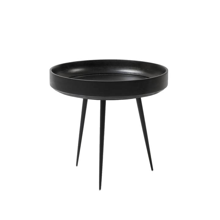 Bowl Table in Klein von Mater aus Mangoholz in Schwarz