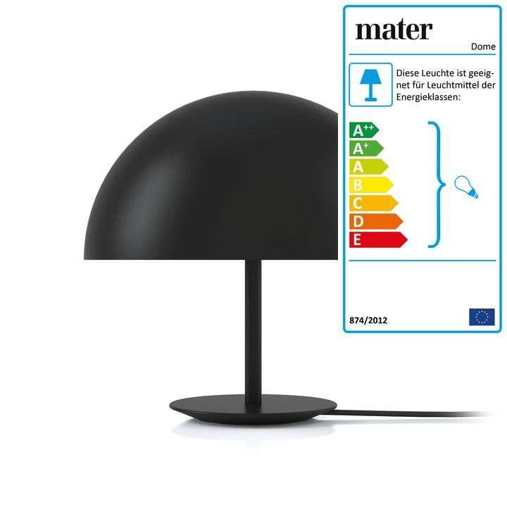 Dome Tischleuchte von Mater Ø 40 cm in Schwarz
