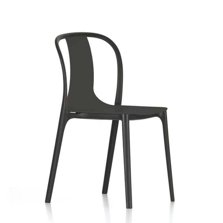 Belleville Chair Plastic von Vitra in Tiefschwarz