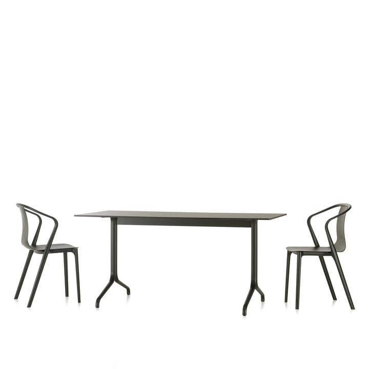 Vitra - Belleville Esstisch Indoor, rechteckig, 160 x 75 cm