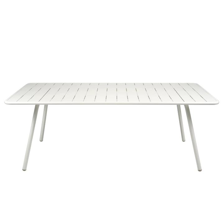 Luxembourg Tisch 100 x 207 von Fermob in Baumwollweiss