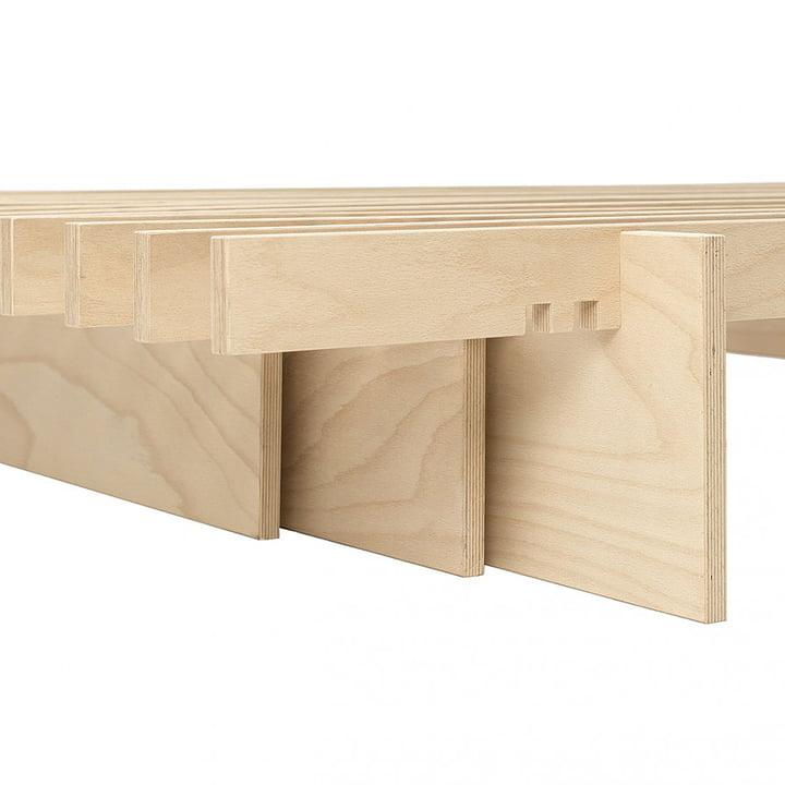 Auflegerplatten des Parallel Bettes von Tojo
