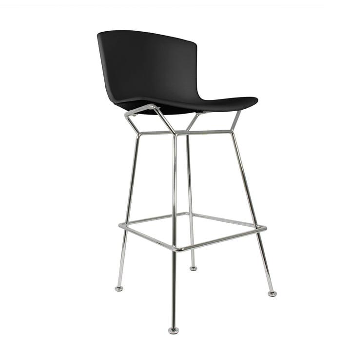 Knoll - Bertoia Kunststoff-Barhocker, schwarz / verchromt