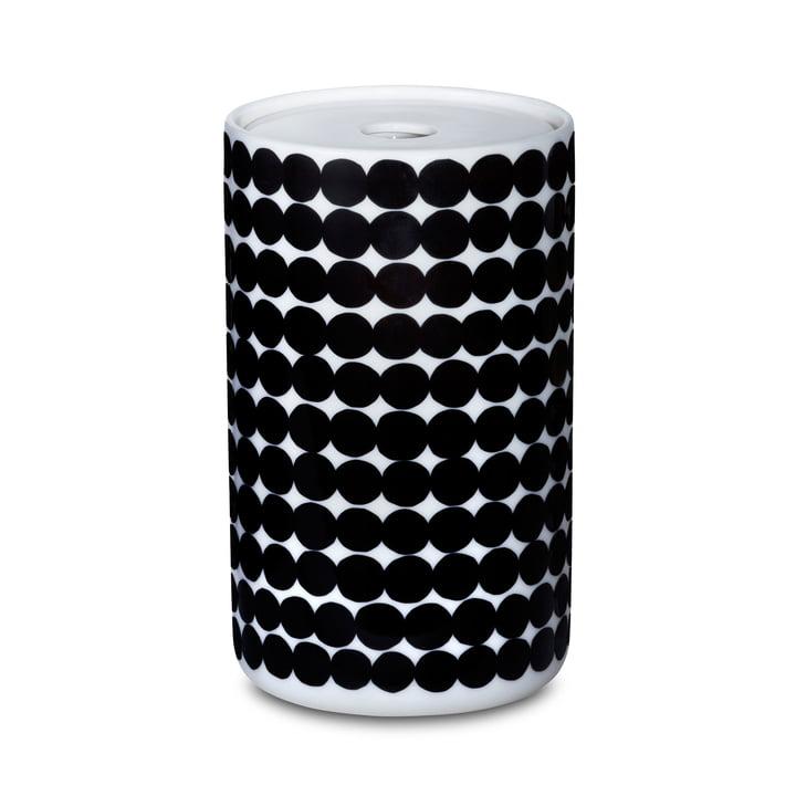 Das Oiva Siirtolapuutarha Vorratsglas mit einer grösse von 1300 ml in weiss / schwarz