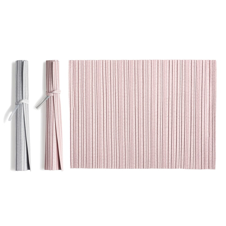 Iittala X Issey Miyake - Tischset 36 x 48 cm, pink / hellgrau