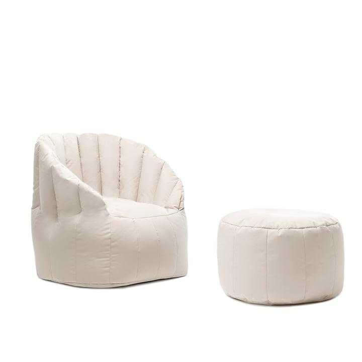 Shell Hocker mit Sessel von Sitting Bull