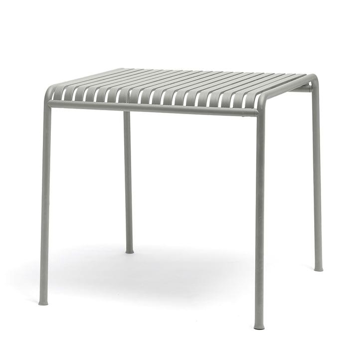 Palissade Tisch von Hay in hellgrau - quadratisch und mit einer grösse von 80 x 80 cm