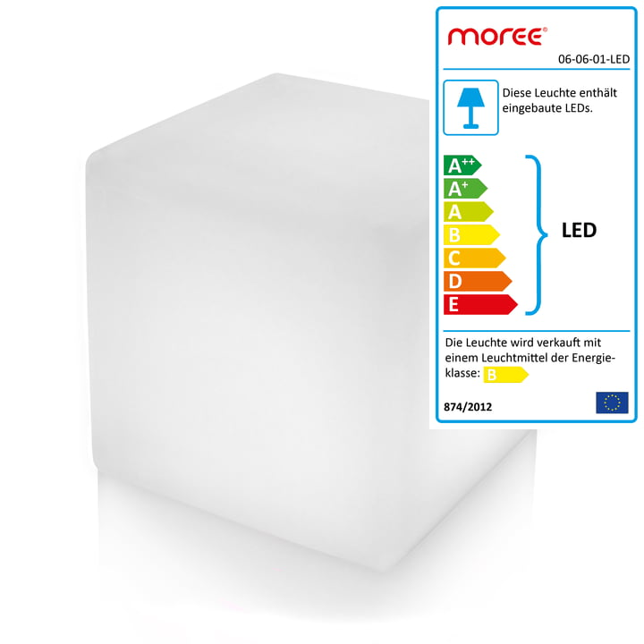 Moree - Cube Outdoor LED, Transluzent-weiss